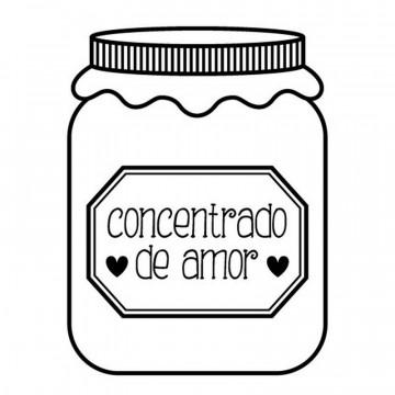 Sello de Madera Concentrado de amor