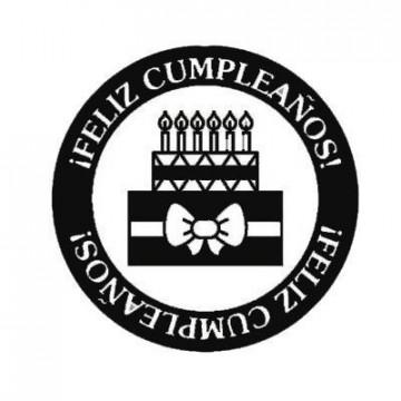 Sello de Madera Feliz cumpleaños