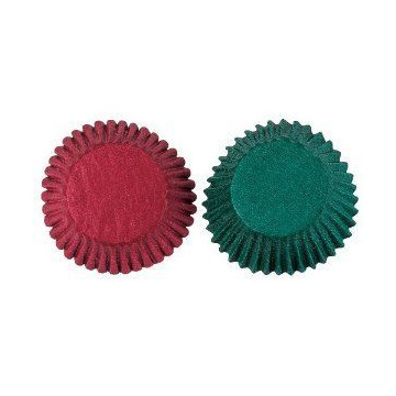 Capsulas cupcakes Rojo y Verde Wilton