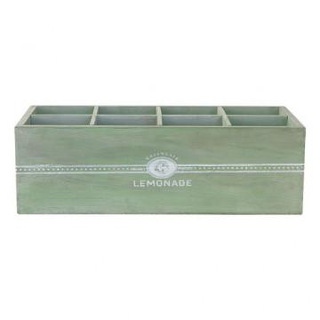 Caja decorativa madera con compartimentos Verde Green Gate