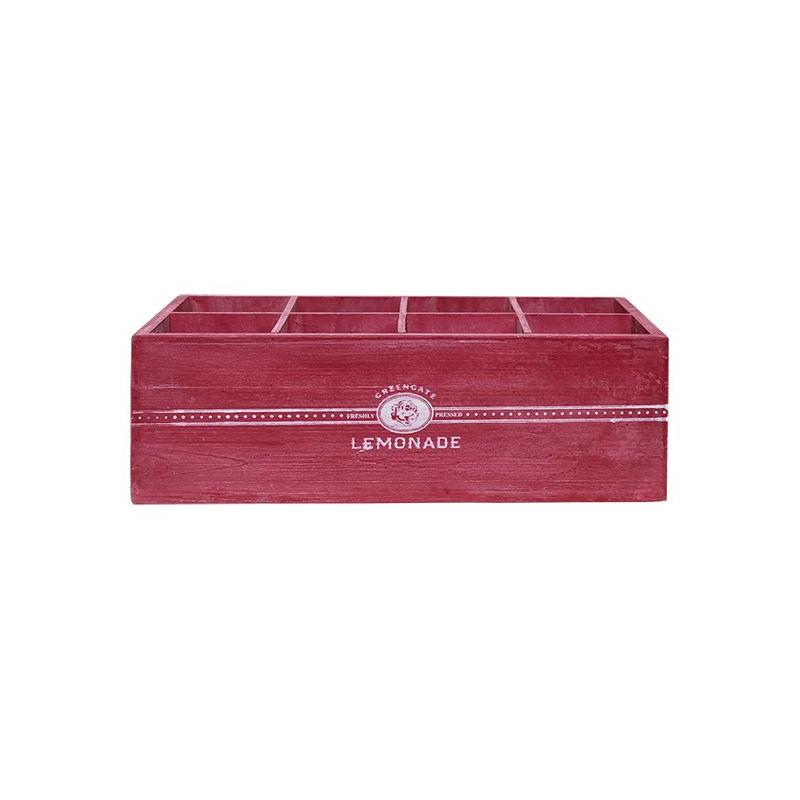 Caja decorativa madera con compartimentos Rojo Green Gate