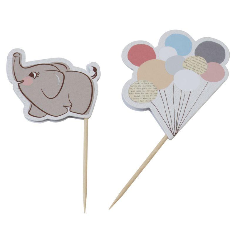 Pack de 10 toppers Bebe Elefante