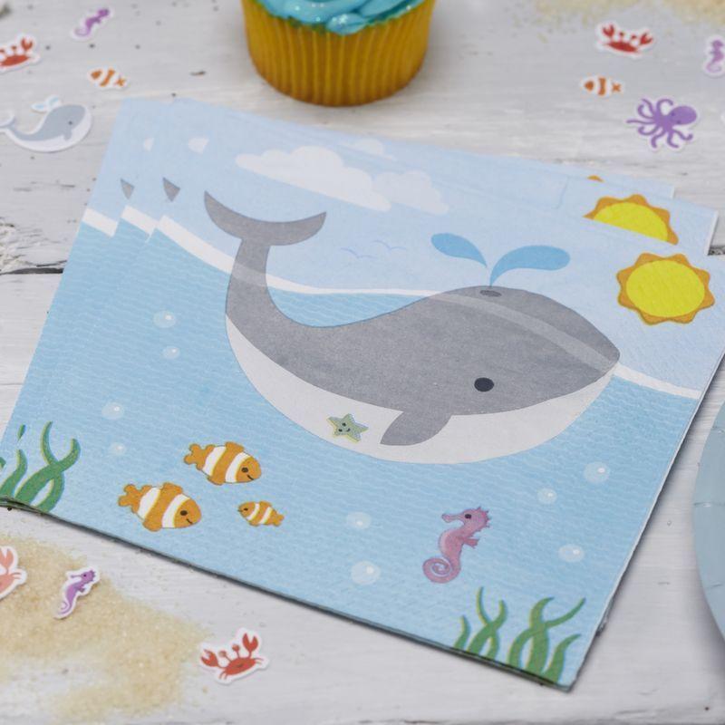 Servilleta de papel Bajo del mar