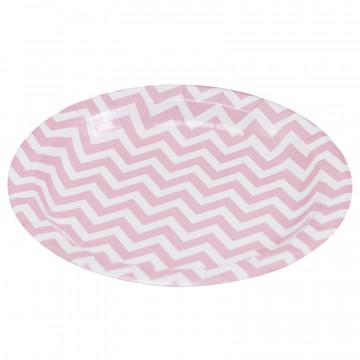 Platos de fiesta Chevron rosa