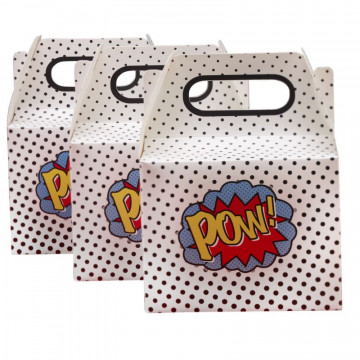 Pack de 5 cajas de regalo Pop Super Heroe