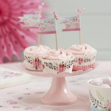 Cápsulas cupcakes Vintage floral