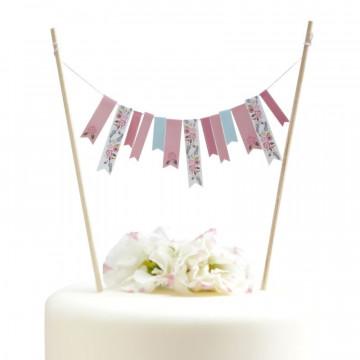 Topper para tarta Vintage floral