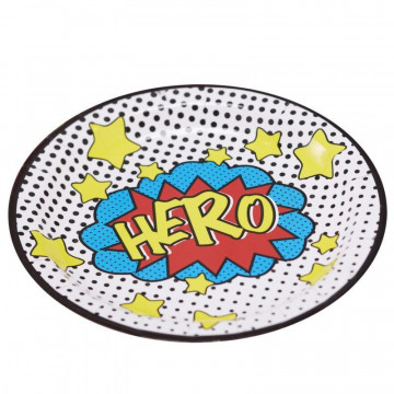 Platos fiesta Pop Art Super heroe