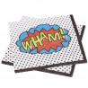 Servilleta de papel Pop art super heroe