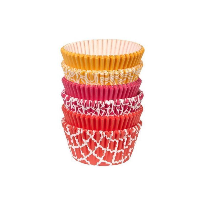 Cápsulas cupcakes pack 150 unidades surtido formas geométricas Wilton