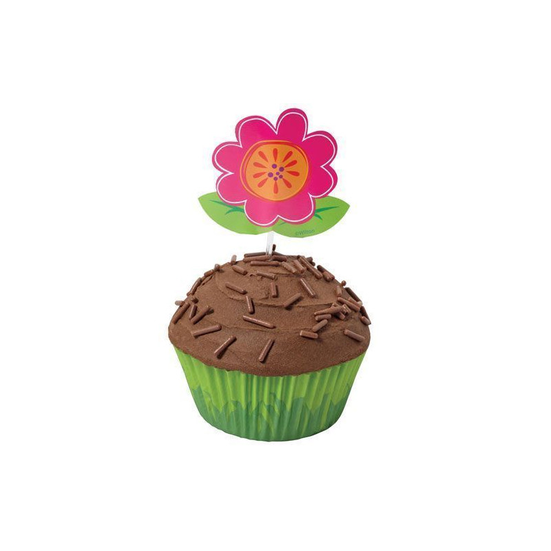 Set para cupcakes: Flores Wilton