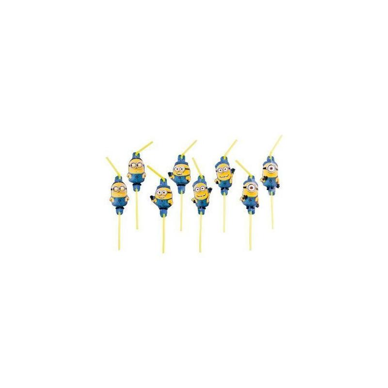 Pack de 8 pajitas Los Minions