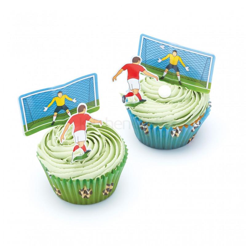 Set para cupcakes: Fútbol Sweet does it