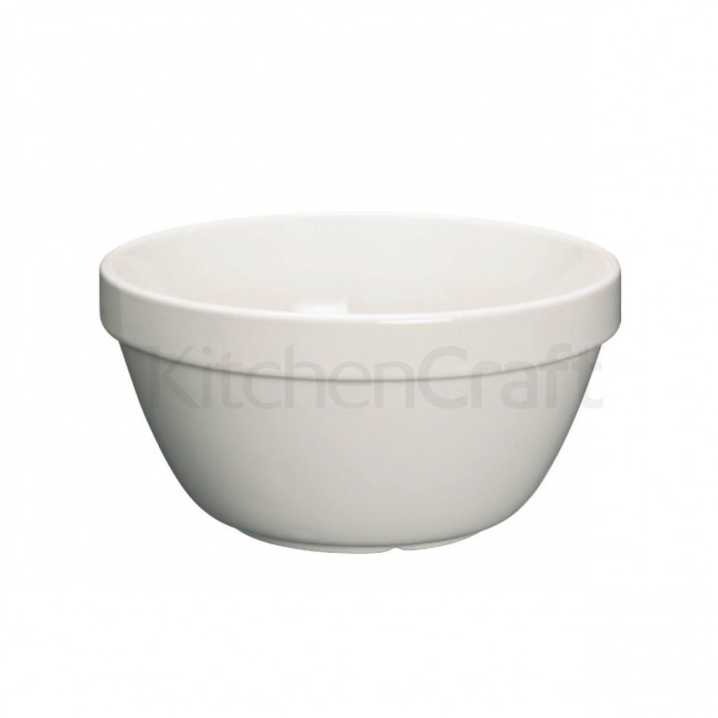 Bol de cerámica blanco 20 cm Kitchen Craft