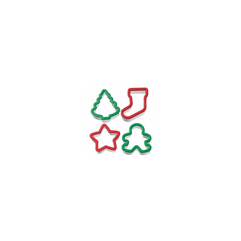 Cortante pack 4 cortantes navidad: gingerbread, estrella, arbol y calcetín Wilton