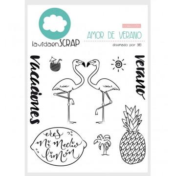 Set sellos transparentes amor de verano