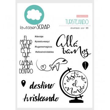 Set sellos transparentes Turisteando