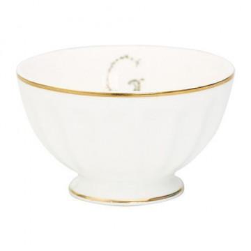 Bol de cerámica blanco y oro G Green Gate