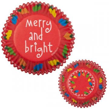 Capsulas cupcakes Merry and brigth