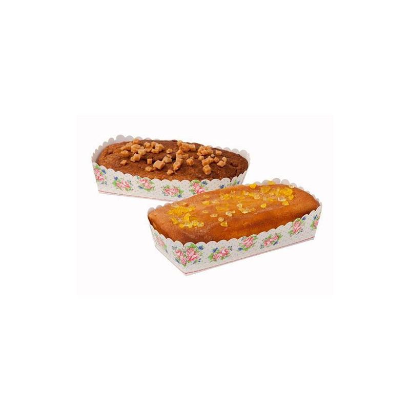 Pack de 6 moldes desechables Flores Volantes y Glaseado