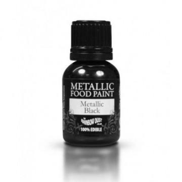 Pintura comestible metalizada Negro Rainbow Dust