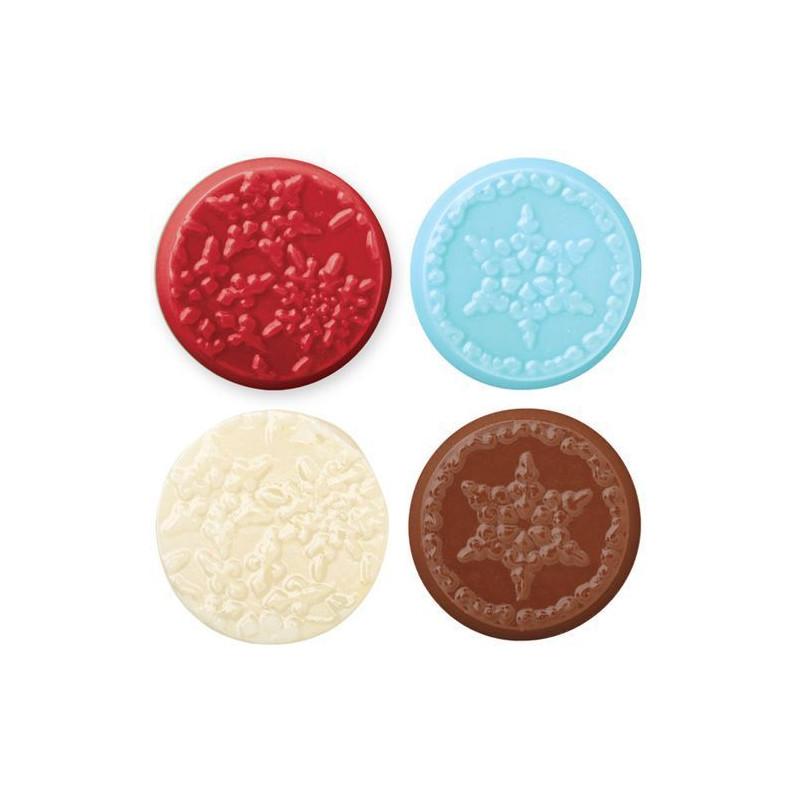Molde para piruletas Snowflake candy mold