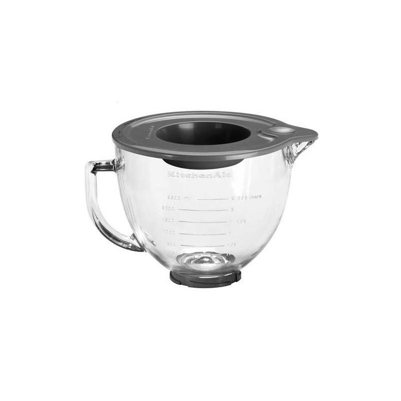 Bol de cristal + tapa Kitchen Aid
