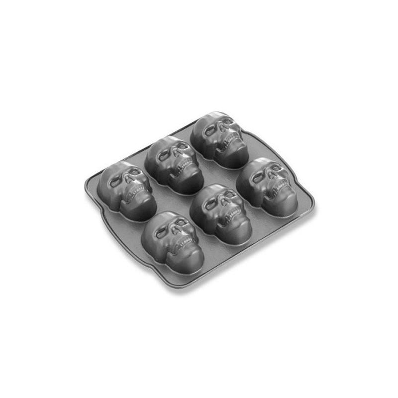 Molde calavera 6 cavidades Skull Cakelets Nordic Ware