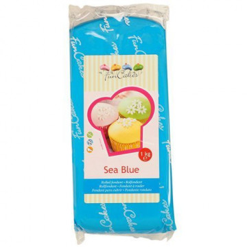 Fondant Funcakes azul mar 1kg