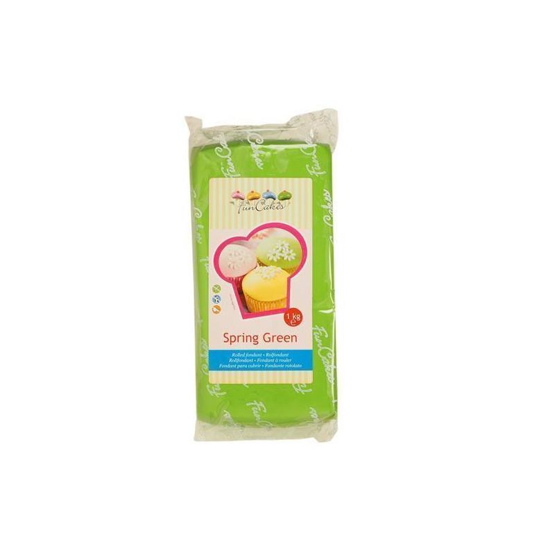 Fondant Funcakes verde 1kg
