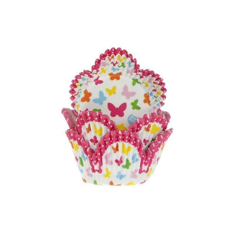 Cápsulas cupcakes Tulipanes con mariposas HoM