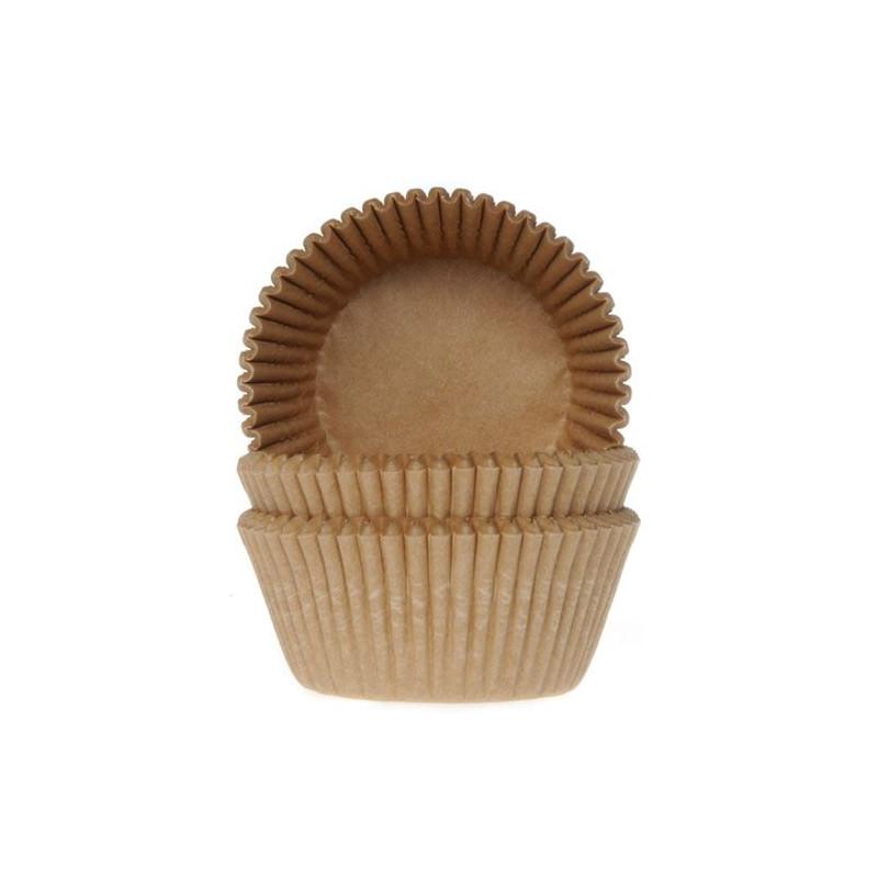 Cápsulas cupcakes color Camel/Kraft House of Marie