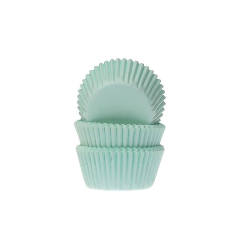 Cápsulas mini cupcakes color verde menta House of Marie