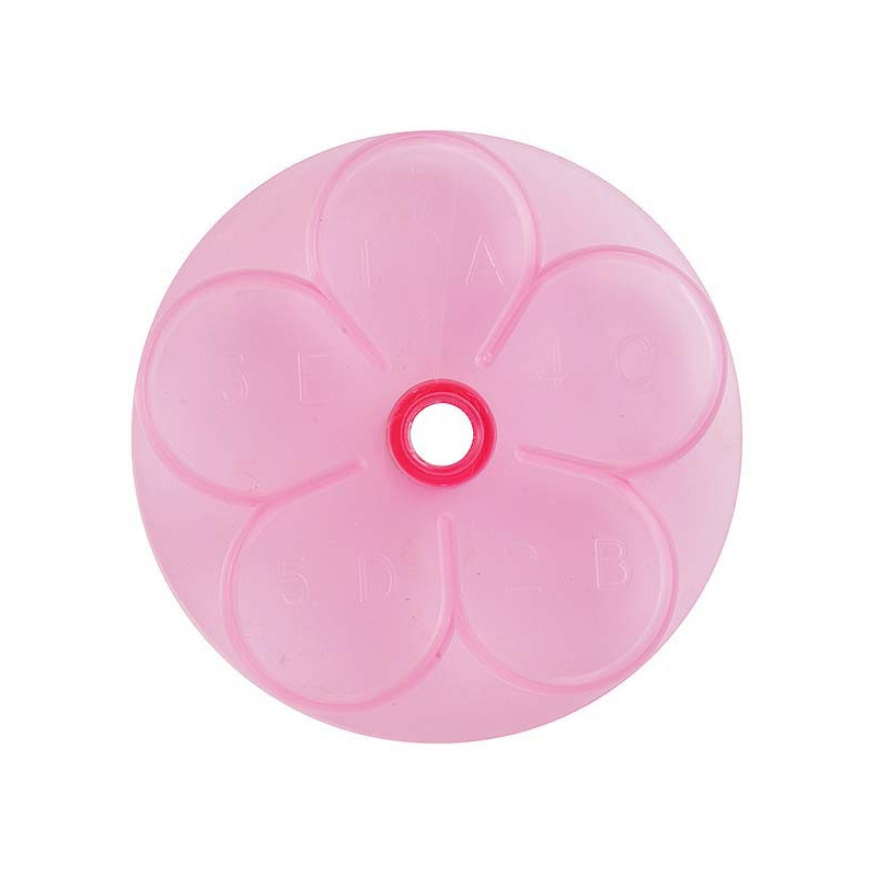 Cortante Flor cinco petalos Rosa 6 cm JEM