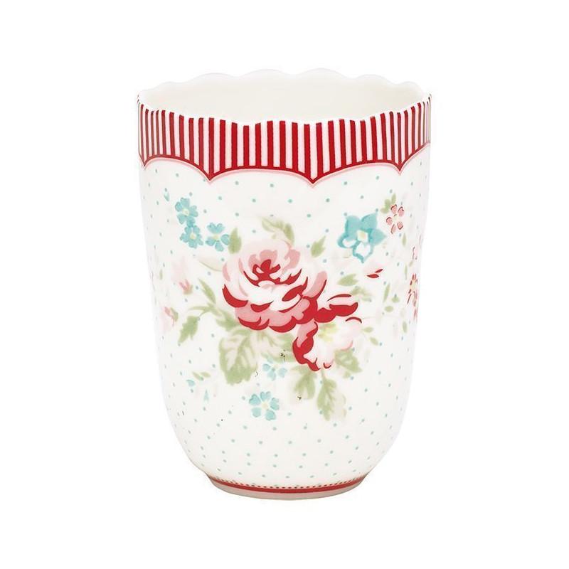 Vaso de cerámica Abelone Blanco Green Gate