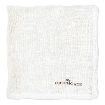 Paño de cocina de tela blanco Green Gate