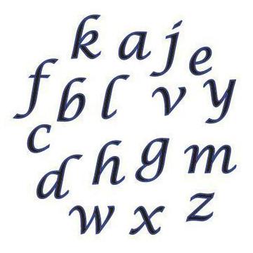 Alfabeto Minuscula Script celeste
