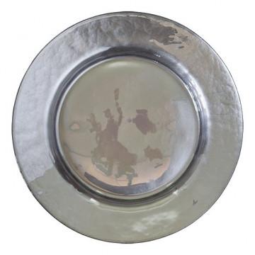 Plato de cerámica  Plata Brillante Green Gate