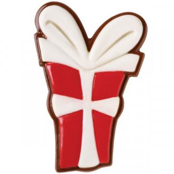 Molde de chocolate en forma de caja de regalo Wilton