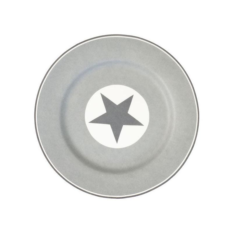 Plato de cerámica de postre Abelone gris Green Gate [CLONE]