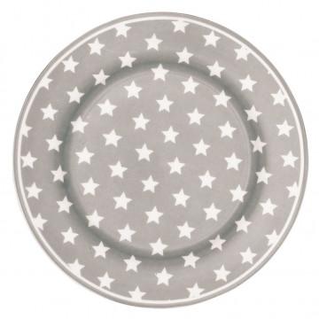 Plato de cerámica de postre Abelone gris Green Gate [CLONE] [CLONE] [CLONE]