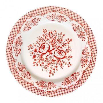 Plato de cerámica de postre Stephanie Rojo Green Gate