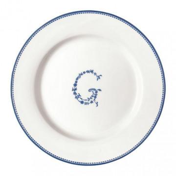 Plato de cerámica de postre G azul Green Gate