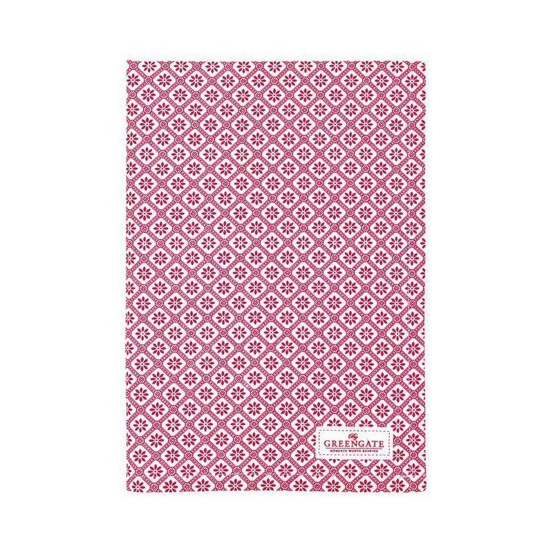 Paño de cocina grande de tela Cherry Pale Pink Green Gate [CLONE] [CLONE] [CLONE]