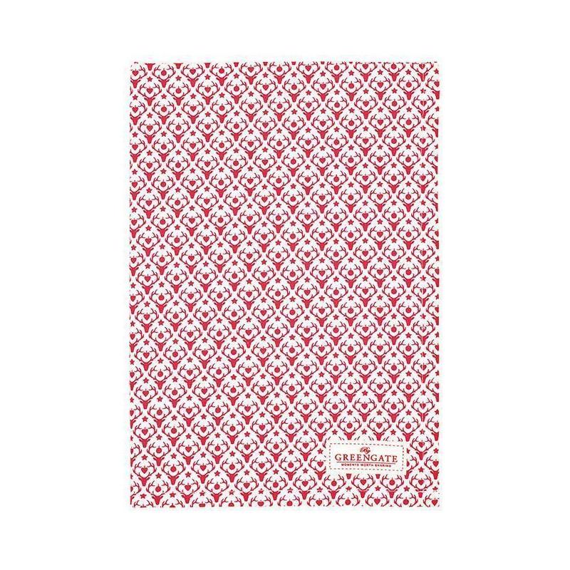 Paño de cocina grande de tela Cherry Pale Pink Green Gate [CLONE] [CLONE] [CLONE] [CLONE]