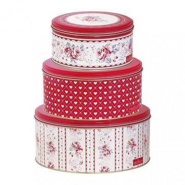 Pack 3 latas redondas Vilma red Green Gate