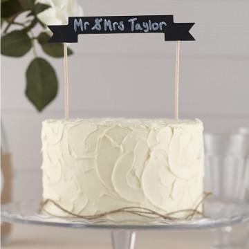 Pack de 2 Topper para tarta Pizarra