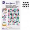 Hoja de papel de azúcar comestible y flexible Alfabeto Negro Wilton