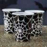 Vasos de fiesta Telaraña blanco y negro