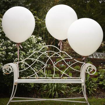 Pack de 3 globos grandes Blanco y Rosa [CLONE]